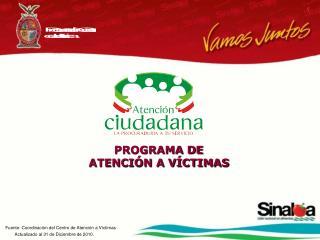 PROGRAMA DE  ATENCIÓN A VÍCTIMAS