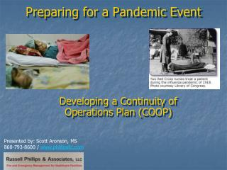Preparing for a Pandemic Event