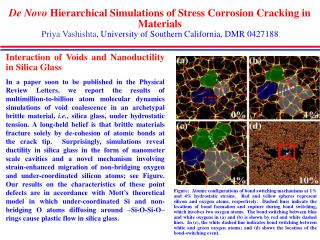 Interaction of Voids and Nanoductility in Silica Glass