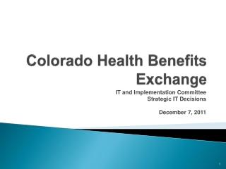 Colorado Health Benefits Exchange