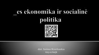 _ es ekonomika ir socialinė politika