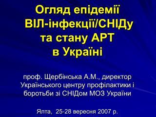Характеристика епідемії ВІЛ-інфекції/СНІДу в Україні