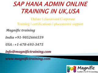 Sap hana admin online training in uk,usa
