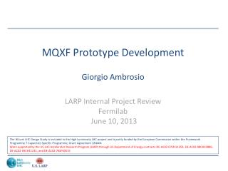 MQXF Prototype Development