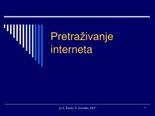 Pretraživanje interneta