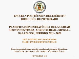 LUÍS ANTONIO ALULIMA GRANDA MARIO JAVIER BELTRÁN CRIOLLO