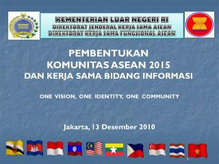 KEMENTERIAN LUAR NEGERI RI DIREKTORAT JENDERAL KERJA SAMA ASEAN