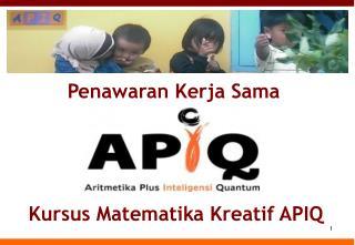 Kursus Matematika Kreatif APIQ