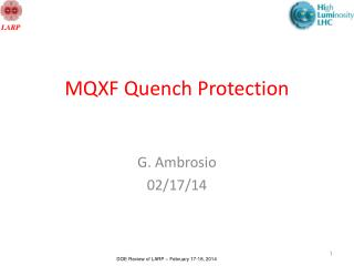 MQXF Quench Protection