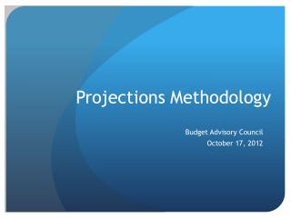 Projections Methodology