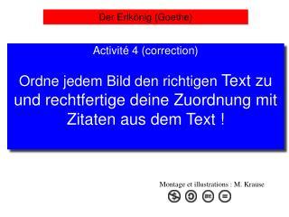 Activit  4 correction  Ordne jedem Bild den richtigen Text zu  und rechtfertige deine Zuordnung mit Zitaten aus dem Text