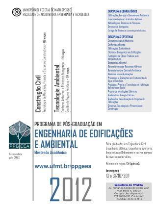 Inscrições 13 a 31/10/2011
