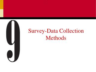Survey-Data Collection Methods