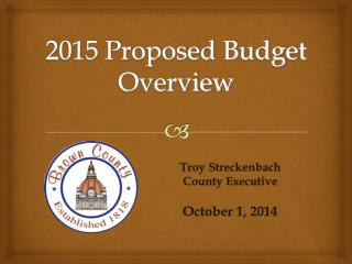 2015 Proposed Budget Overview