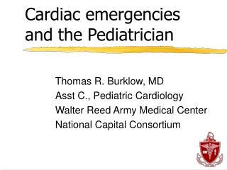 Cardiac emergencies  and the Pediatrician