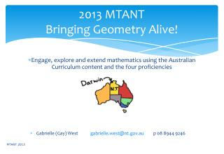 2013 MTANT Bringing Geometry Alive!