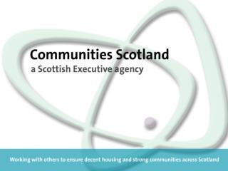 Richard Leckerman Mental Health & Well-being Co-ordinator Communities Scotland