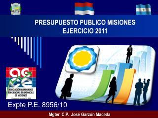 PRESUPUESTO PUBLICO MISIONES EJERCICIO 2011