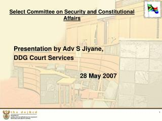 Select Committee on Security and Constitutional Affairs
