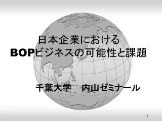 日本企業における BOP ビジネスの可能性と課題