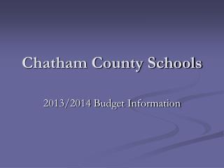 Chatham County Schools