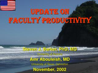 UPDATE ON Faculty Productivity