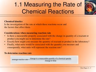 1.1 Measuring the Rate of Chemical Reactions