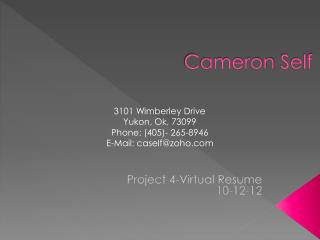 Cameron  Self