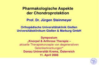 Pharmakologische Aspekte  der Chondroprotektion