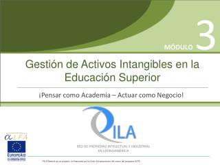 Gestión de Activos Intangibles en la Educación Superior