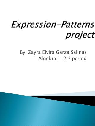 Expression-Patterns project