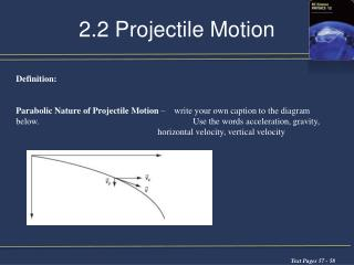 2.2 Projectile Motion