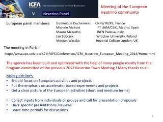The meeting in Paris: