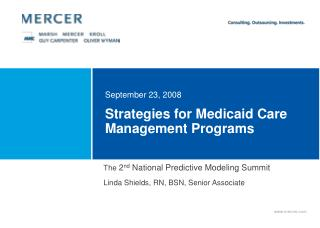 Strategies for Medicaid Care Management Programs