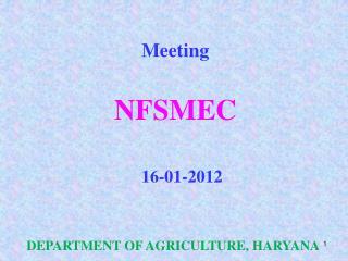 Meeting  NFSMEC 16-01-2012