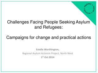 Challenges Facing People Seeking  A sylum and Refugees: Campaigns for change and practical actions