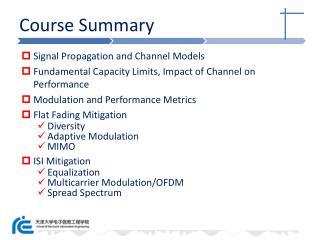 Course Summary