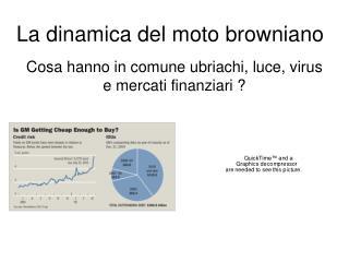 La dinamica del moto browniano