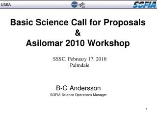 Basic Science  Call for Proposals & Asilomar 2010 Workshop
