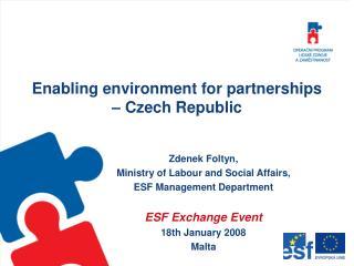 Enabling environment for partnerships – Czech Republic