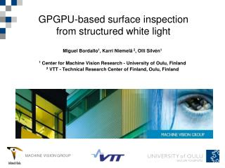 GPGPU-based surface inspection from structured white light