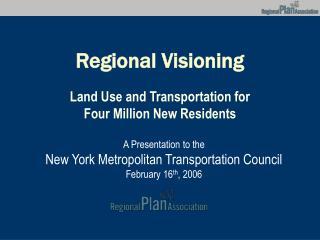 Regional Visioning