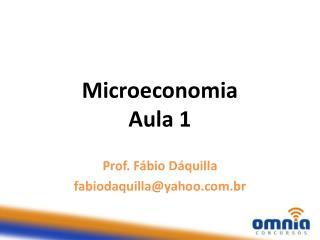 Microeconomia Aula 1