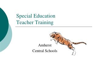 Special Education  Teacher Training