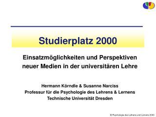 Studierplatz 2000