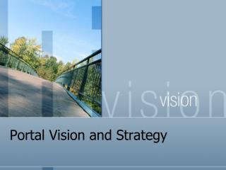 Portal Vision and Strategy