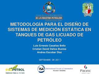 Metodología para el diseño de sistemas de medición estática en tanques de Gas licuado de petróleo