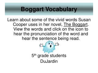 Boggart Vocabulary