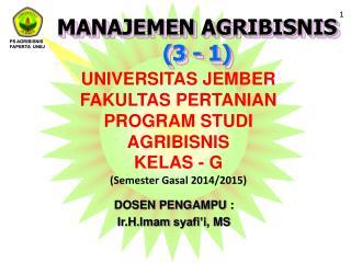 MANAJEMEN  AGRIBISNIS (3 - 1)