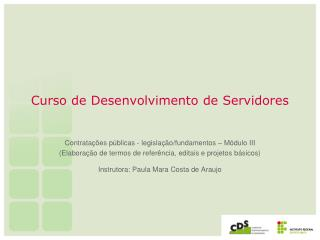 Curso de Desenvolvimento de Servidores